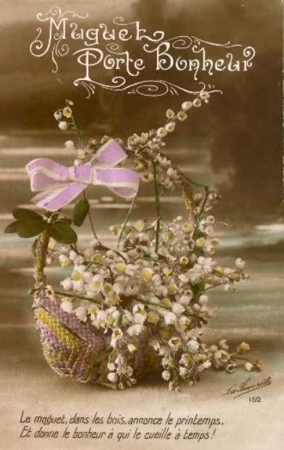 Carte postale ancienne muguet 1er mai