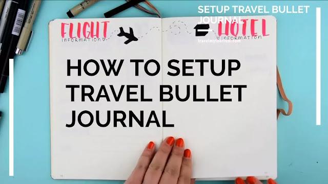 Setup Travel Bullet Journal