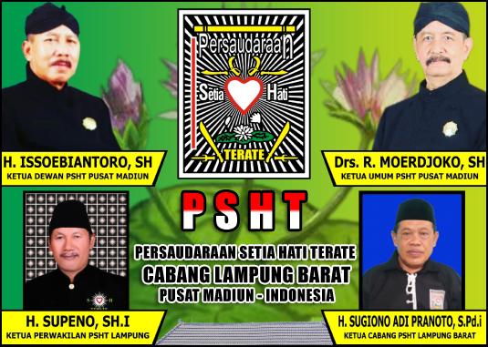 Sugiyono Adi Pranoto, S.Pdi (Ketua Cabang PSHT Lampung Barat) NIC. 068