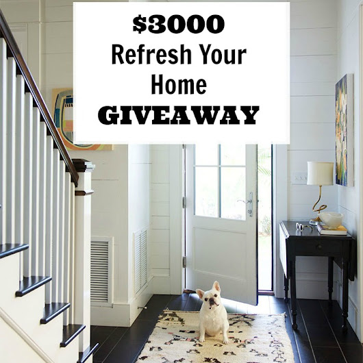 $3000 Refresh Your Home Giveaway #sorteo #homegoods