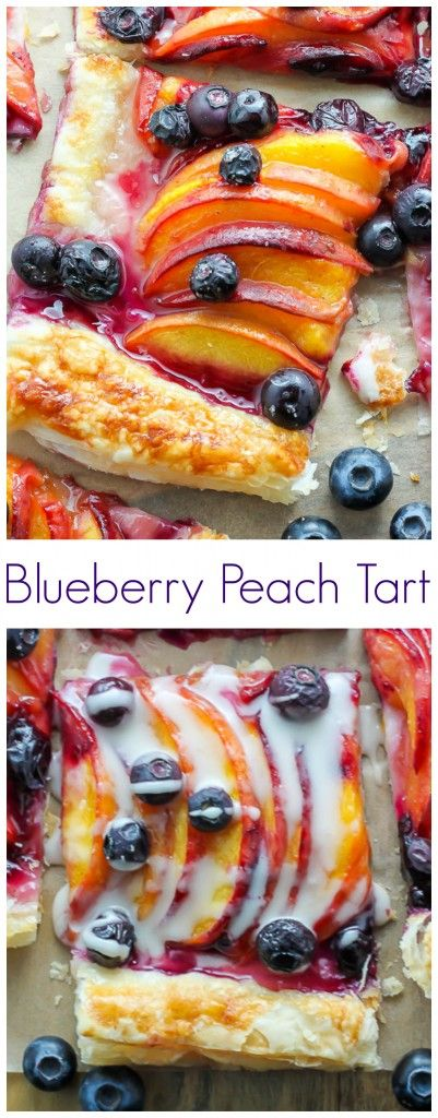 Blueberry Peach Tart With Vanilla Glaze
