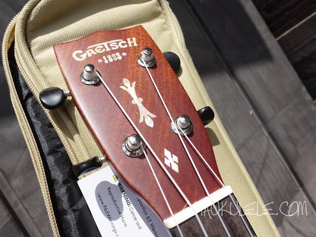 Gretsch G9112 Resonator Ukulele headstock