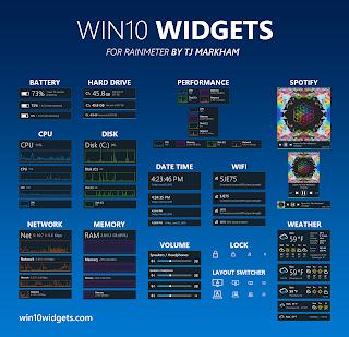 Come avere i widget in Windows 10 con Rainmeter + Win10Widget