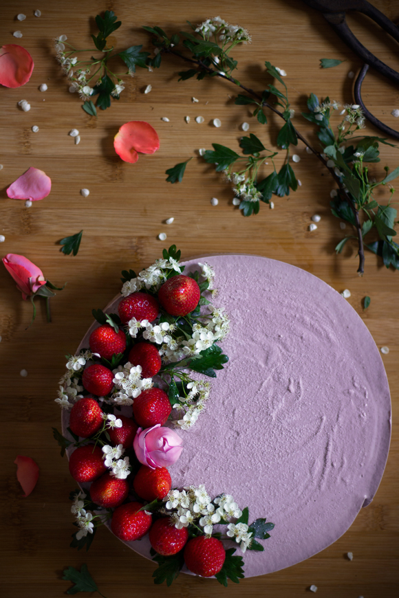cheesecake raw alle fragole