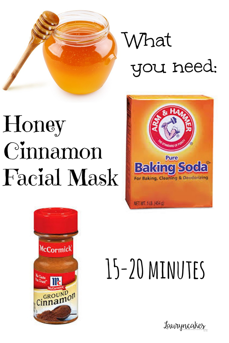 honey cinnamon facial mask DIY, lauryncakes, homemade skincare