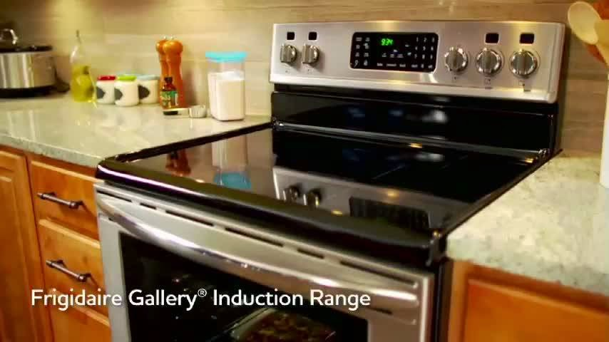 Induction cooking range