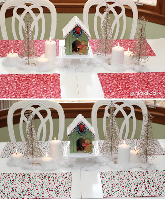 Pretty Christmas decorating ideas for Christmas table decorations from #RealCoake #Christmas #Decorating #Table #Centerpiece
