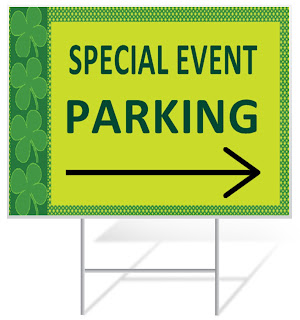 St. Patrick's Day Parking Yard Sign | Banners.com