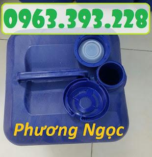 Can nhựa vuông đựng hóa chất, can nhựa 20 Lít, can nhựa loại dày A062b5ee791e9f40c60f