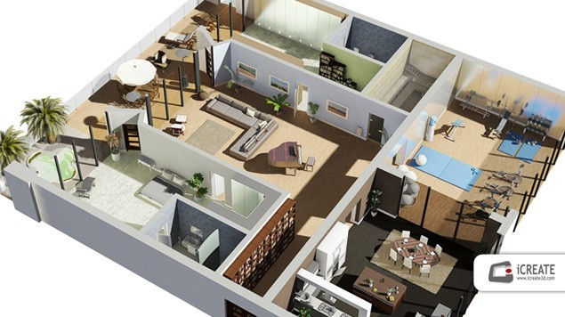 3D Floor Plan  Decoration 5