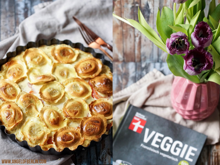 vegetarische Ravioli-Quiche