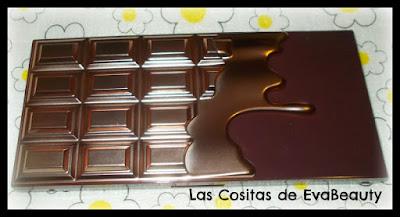 swatches paleta sombras chocolate elixir i heart makeup