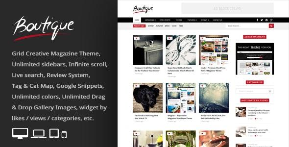 Boutique Grid v2.8 Creative Magazine WordPress Theme