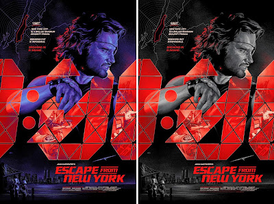 New York Comic Con 2016 Exclusive Escape From New York Screen Print by Martin Ansin x Bottleneck Gallery