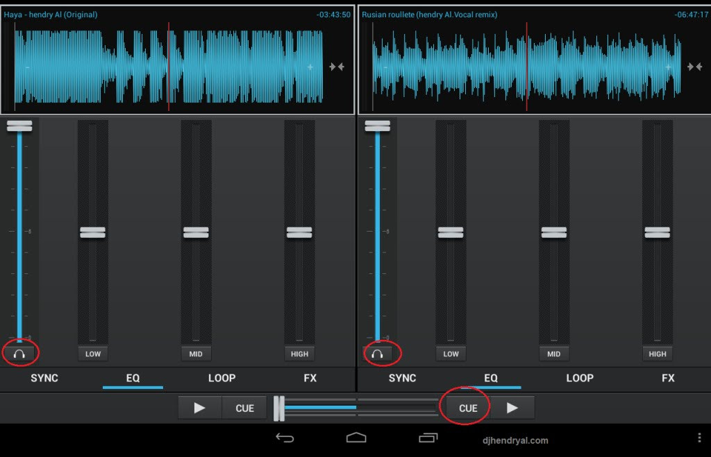Aplikasi DJ Android terbaik 2015 - Dj basic player