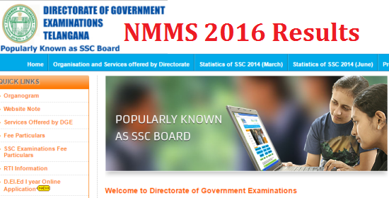 NMMS-2016 Results at bsetelangana.org | National Mean cum Merit Scholarships Results-2016 in Telangana | Telangana NMMS Results | NMMS -2016 Results of Telangana Districts | Adilabad, Hyderabad Kammam Karimnagar Mahaboobnagar Medak Nalgonda Nizamabad Ranga Reddy Warangal NMMS-2016 Results.