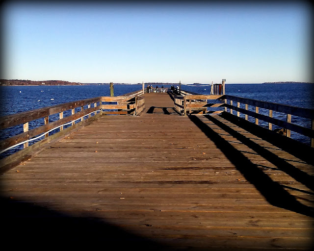 Fishing, King Tide, Salem Willows, Wharf, Salem, Massachusetts, shadows