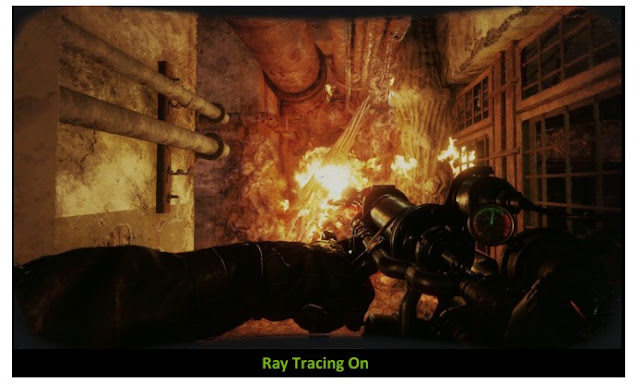 Metro Exodus game after activating the Ray Tracing feature