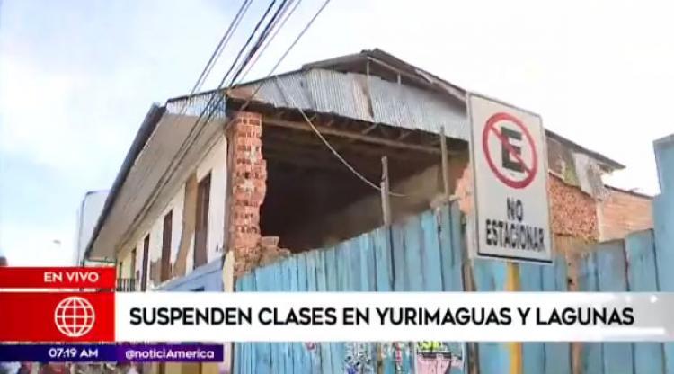 Suspenden clases escolares en Yurimaguas y Lagunas tras sismo de 8 grados
