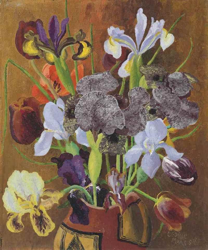 Irises and Tulips. Cedric Morris