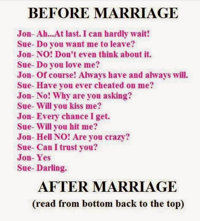 Its-hilarious: Before And After Marriage