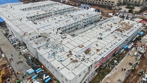 7 Fakta RS Pasien Corona di Wuhan yang Dibangun Dalam 10 Hari