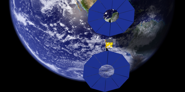 Six French post-graduate engineers from the ISAE Supaero technical university in Toulouse developed the idea of SpaceTug to offer orbit-raising services to satellite customers via electric propulsion. Credit: ESA