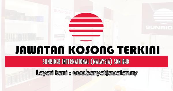 Jawatan Kosong 2020 di Sunrider International (Malaysia) Sdn Bhd