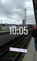 Foto am Stuttgarter Hauptbahnhof