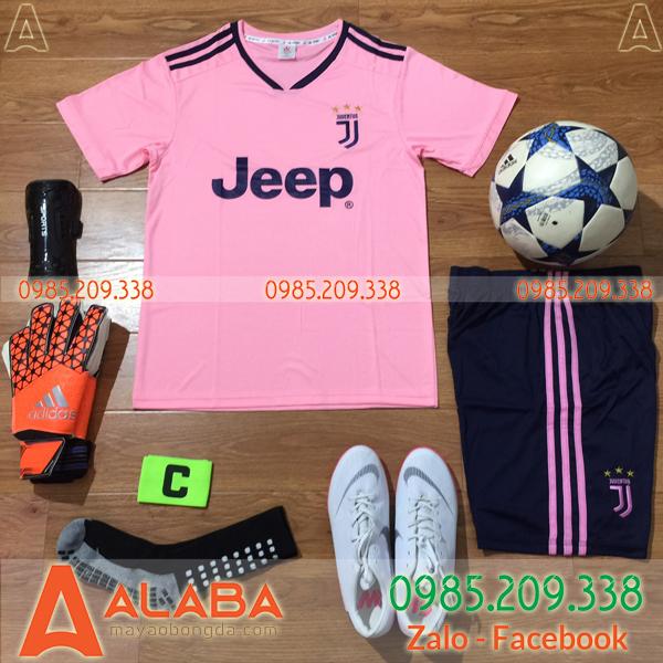 Áo CLB Juventus 2019 màu hồng đẹp