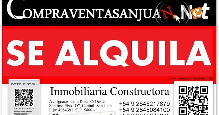 ALQUILO PREDIO SOBRE LATERAL ESTE DE AV. CIRCUNVALACION, EN CAPITAL, SAN JUAN, ARGENTINA