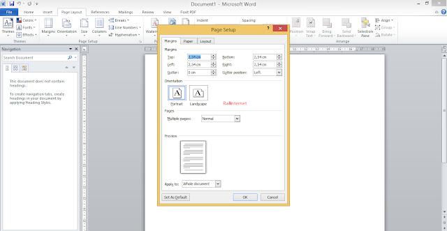 Cara Mengatur Margin di Microsoft Word 2010