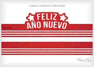 Gorro Feliz Año Nuevo Rojo