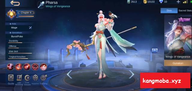 Script Skin Starlight Pharsa Peony Bloom Full Effect Mobile Legends