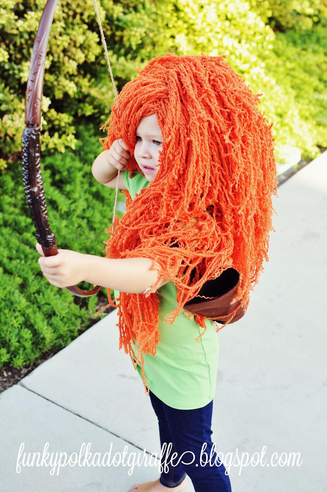 Funky Polkadot Giraffe Wiggin Out Princess Costume Wig