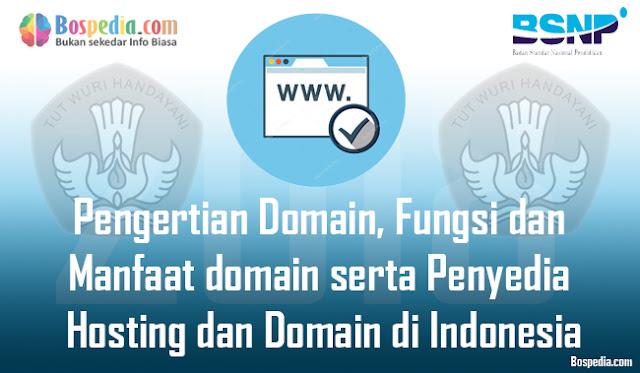 Pada dasarnya setiap orang yang pernah memakai jaringan internet niscaya pernah mengguna Pengertian Domain, Fungsi dan Manfaat domain serta Penyedia Hosting dan Domain di Indonesia