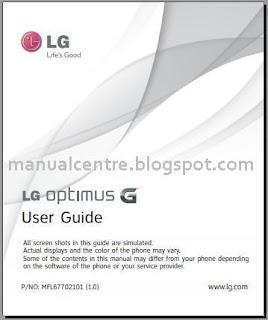 LG Optimus G Manual Cover