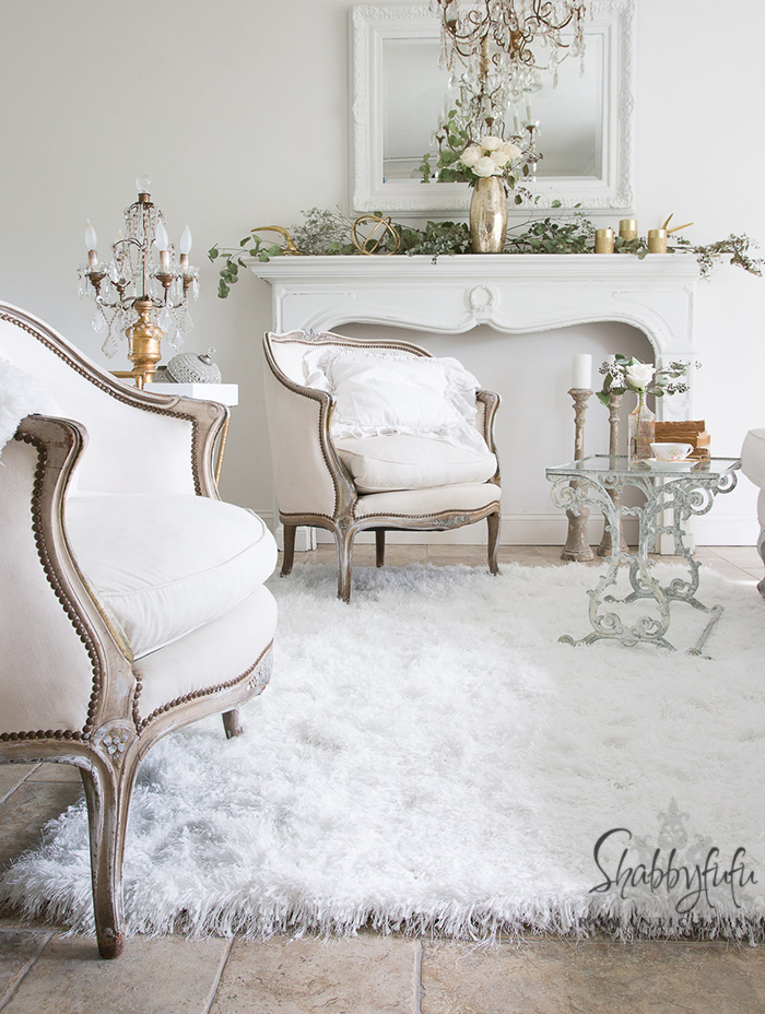 french chairs in a white room