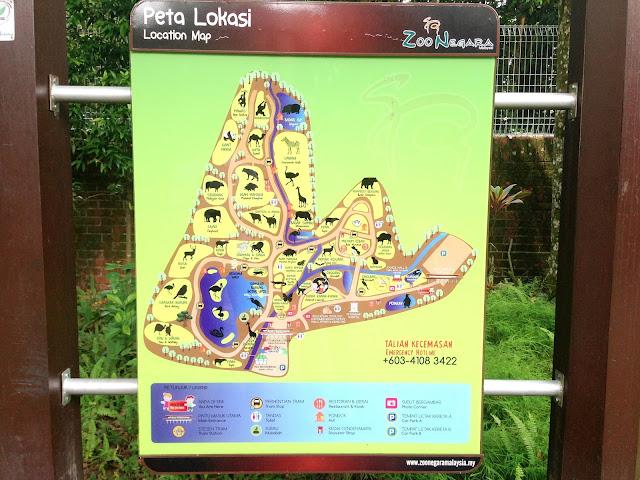 peta zoo negara