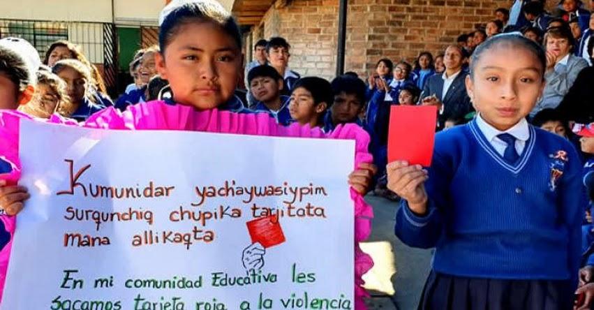MINEDU inicia en Cajamarca campaña «Sácale tarjeta roja a la violencia» www.minedu.gob.pe