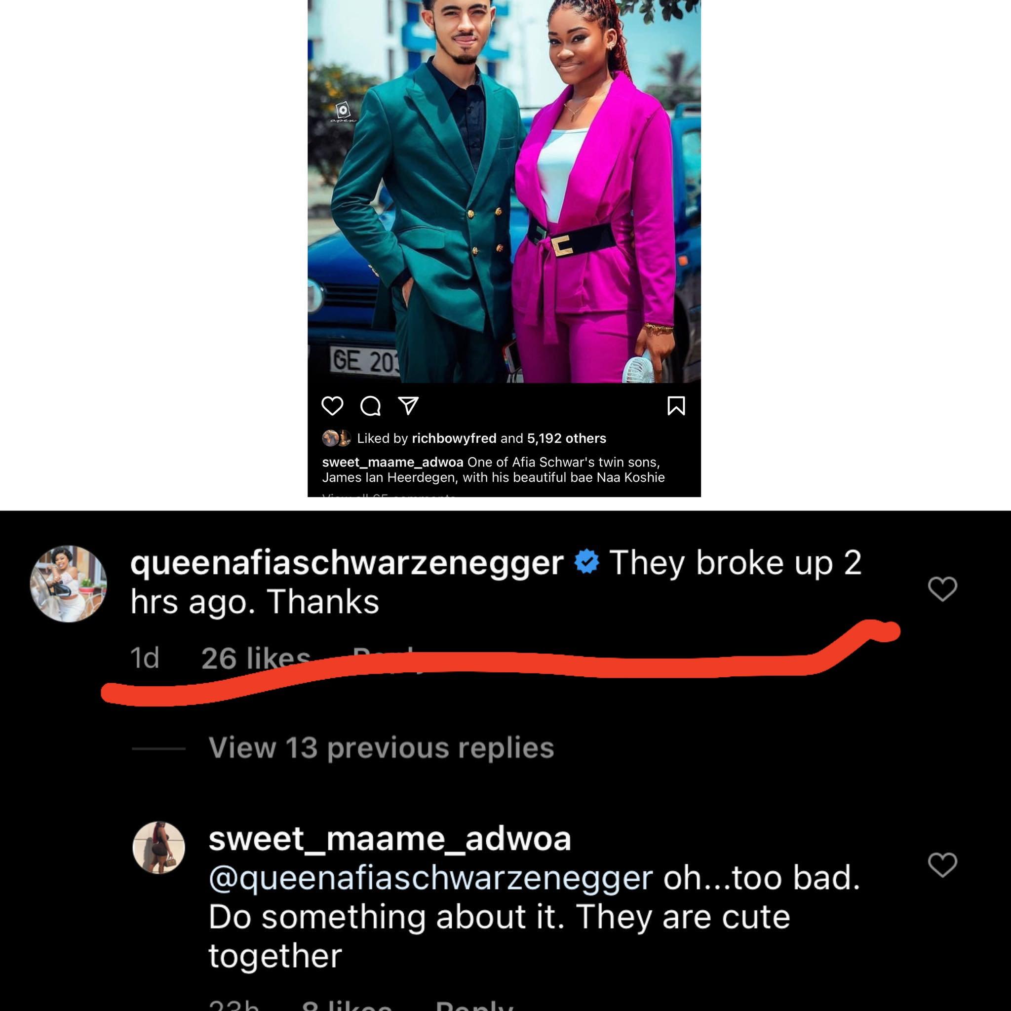 james%2Band%2Bgirlfriend - Afia Schwar' twin son James Ian Geiling Heerdegan breaks up with girlfriend after their bedroom photo leaked online