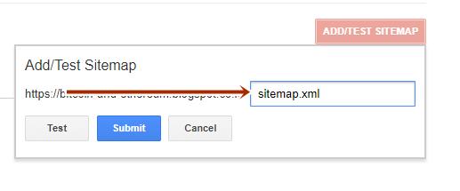 cara submit sitemap blogger ekstensi xml