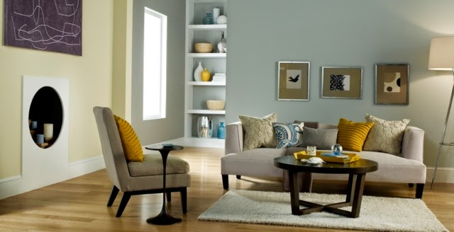 Salas de dos colores colores en casa - Pintar las paredes de dos colores ...
