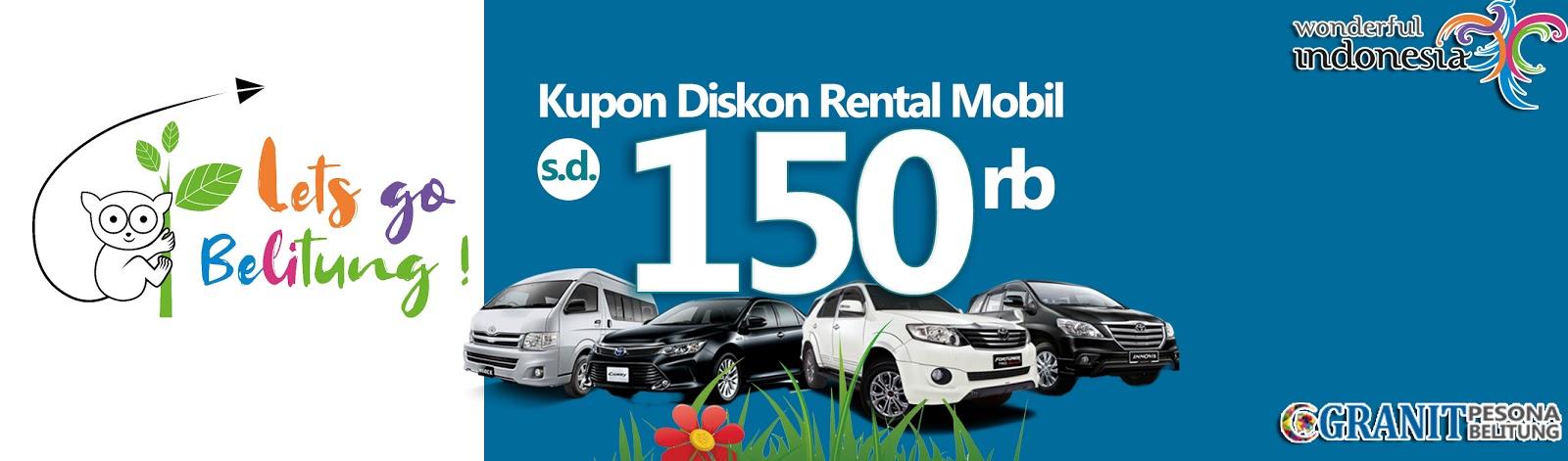 Kupon Diskon Rental Mobil di Belitung