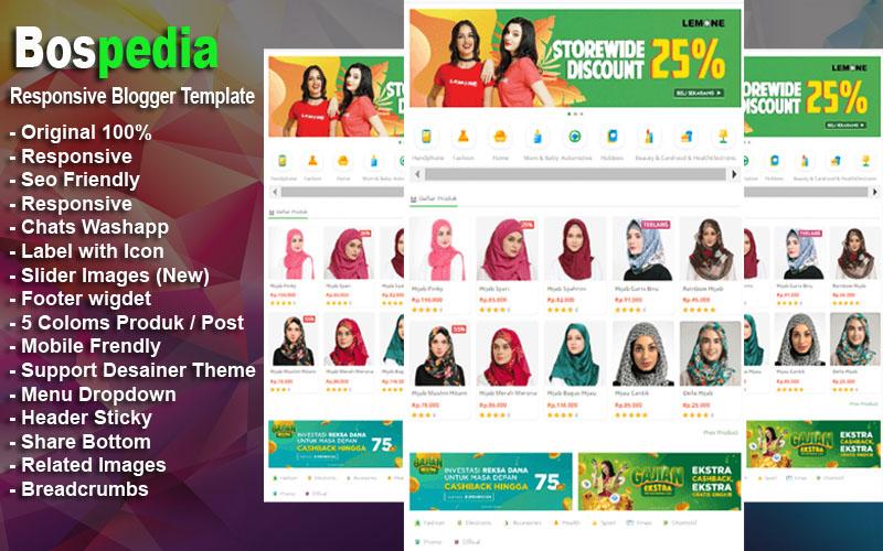 Template Bospedia - Responsive Blogger Template