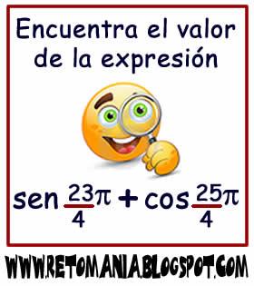 Cuadrados mágicos, Descubre el número, El número que falta, Retos para pensar, Problemas matemáticos, Retos matemáticos, Desafíos matemáticos, Retos de lógica, Problemas para pensar, Funciones trigonométricas, Ángulos Coterminales