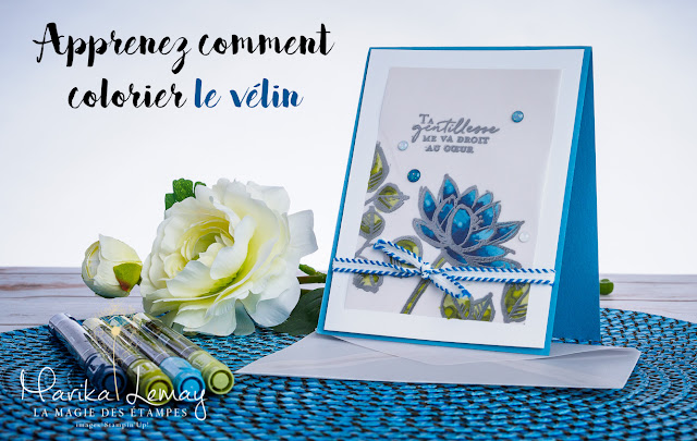 carte vélin vellum Remarquable you Stampin' Up!