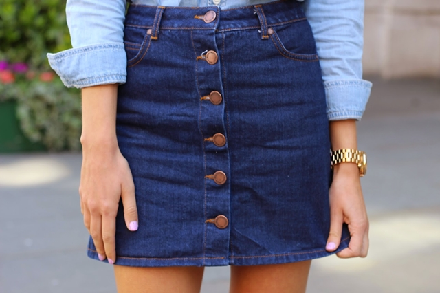 Fabuloso Como usar: Saia Jeans | Lílian com N JI25