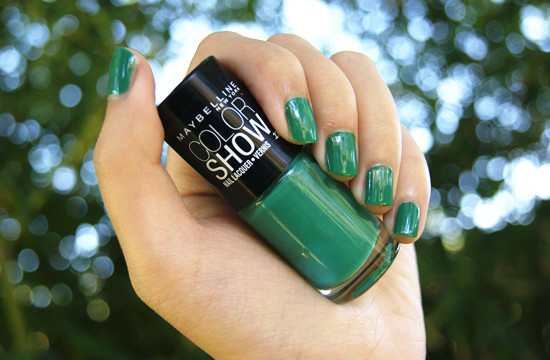 Maybelline Tenacious Teal Color Show Nail Lacquer
