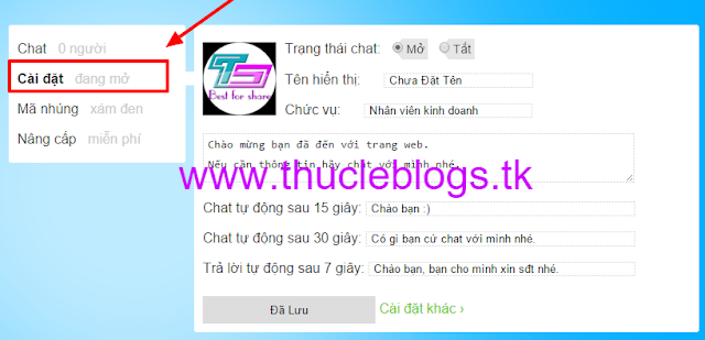 Hướng dẫn cấu hình UhChat phần mềm hỗ trợ trực tuyến